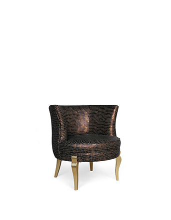 snakskin upholstered accent chair deliciosa chair koket