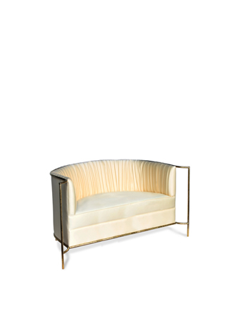 desire sofa koket ruched sofa with exposed metal detailing