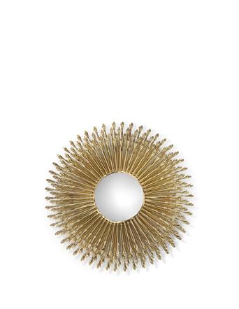 goddess mirror by koket - brass hand decor