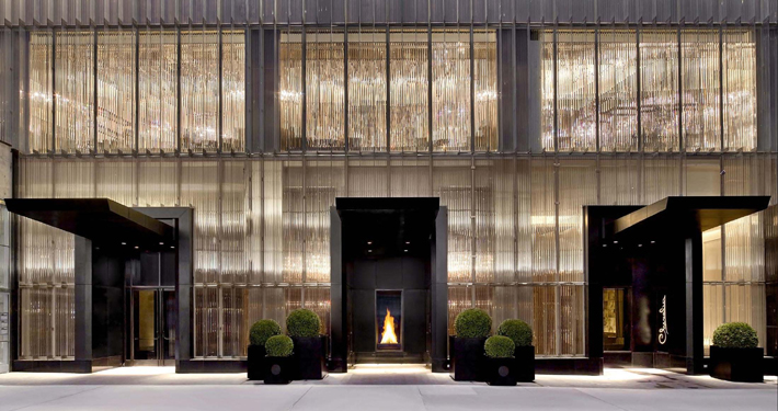 Entrance to the Baccarat Hotel New York