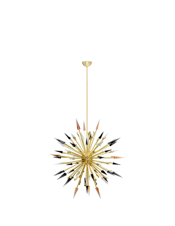 outburst chandelier by koket brass hand decor