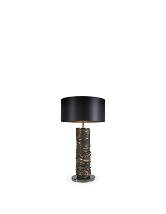 snakeskin textile ruche table lamp by koket