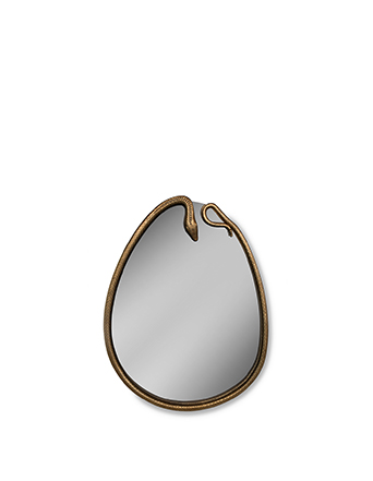 gold snake frame oval mirror serpentine mirror by koket