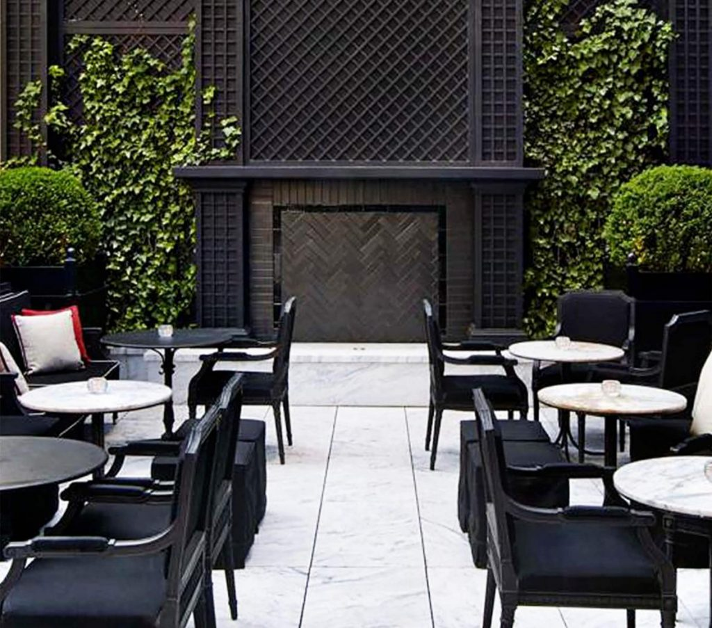 The Terrace at the Baccarat Bar NYC