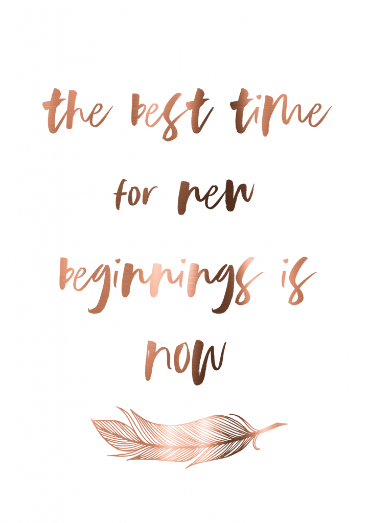 Motivational life quotes - the best time for new beginnings is now