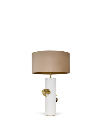 vengeance tablelamp by koket hand decor brass