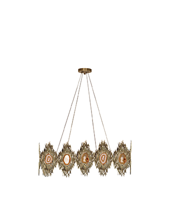 vivre chandelier koket gem stone lighting