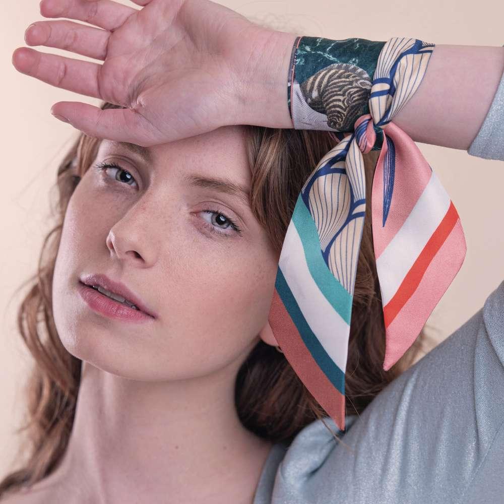 fashion accessories - 'The Dancefloor' Silk Headband designed by sebastien descamps