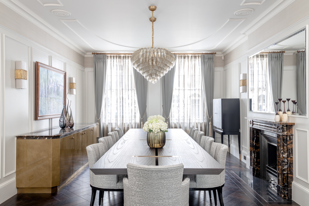 Interior design by London Projects - transitional design dining room