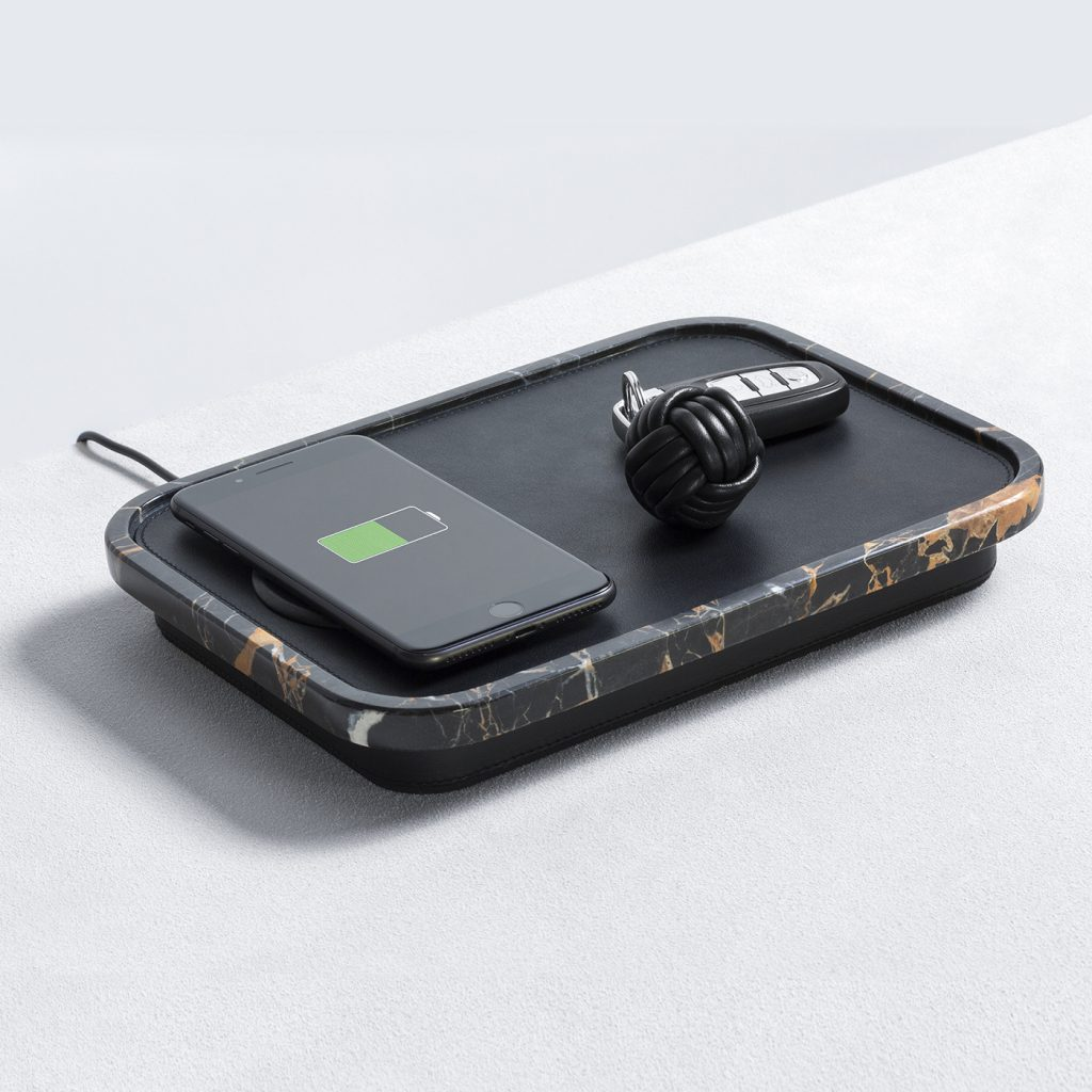 Giobagnara Black Polo Charging Station with Portoro Marble from Artemest - unusual father's day gifts