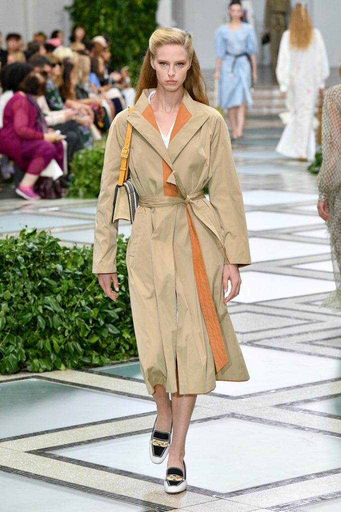 2020 fashion trends - A model walks the runway during Tory Burch NYFW SS20 at the Brooklyn Museum (Photo by Slaven Vlasic/Getty Images for Tory Burch)