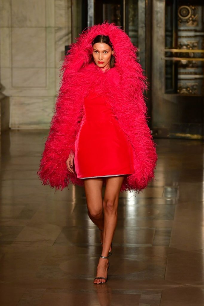 Bella Hadid walks the runway during the Oscar De La Renta Show – February 2020 New York Fashion Week: The Shows at The New York Public Library.  (Photo by Slaven Vlasic/Getty Images)