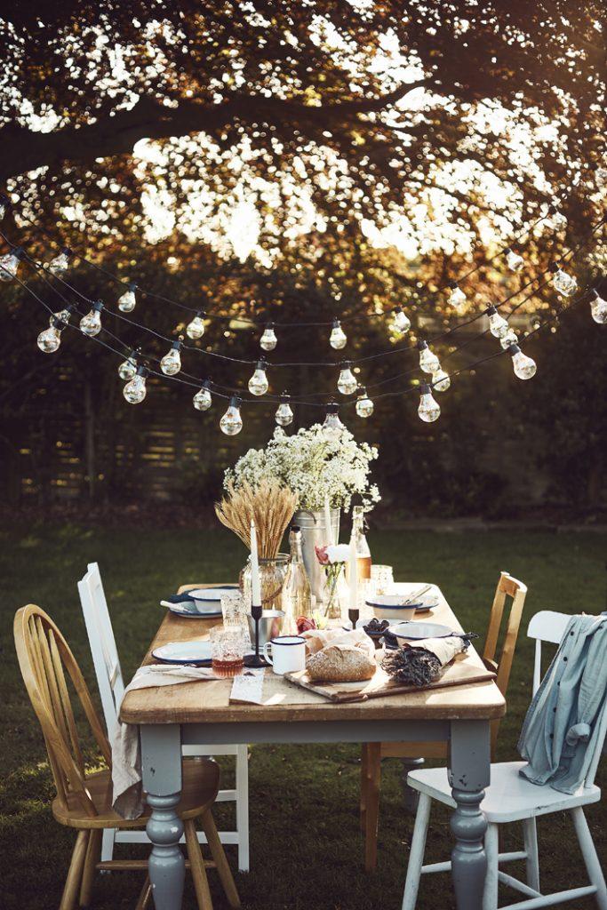 Lights4fun, High Summer Garden Sunset Alfresco Dining Lifestyle  SS20