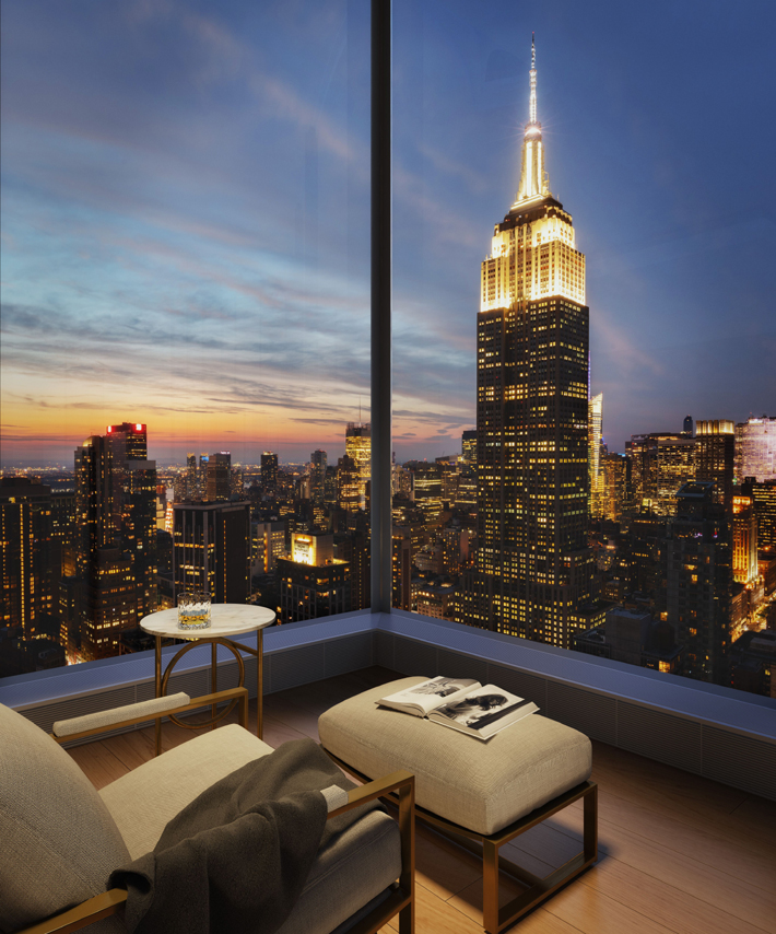 Luxury interior design at Madison House NYC with stunning views - interiors by Gachot Studios and inspired architecture by Handel Architects
