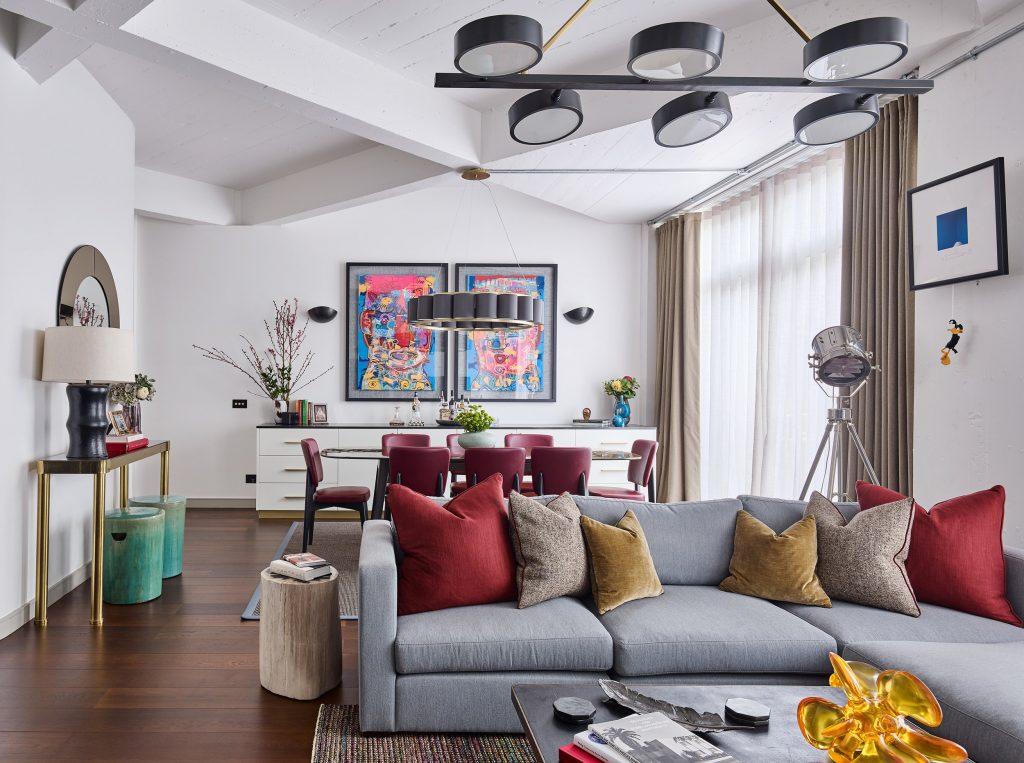 'Lofty Ambitions', a bachelor's flat refurbished by Studio L, London (Photo by Photo Nick Rochowski)