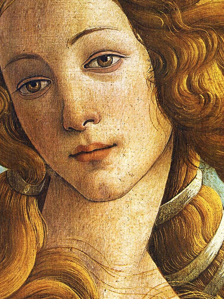 detail by sandro Botticelli La Nascita di Venere