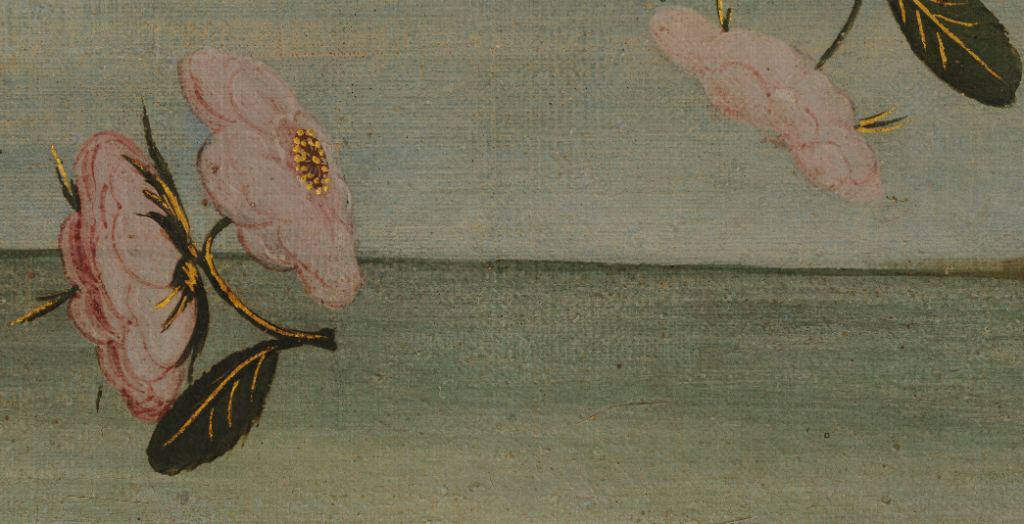 flower detail from the birth of venus by Sandro Botticelli