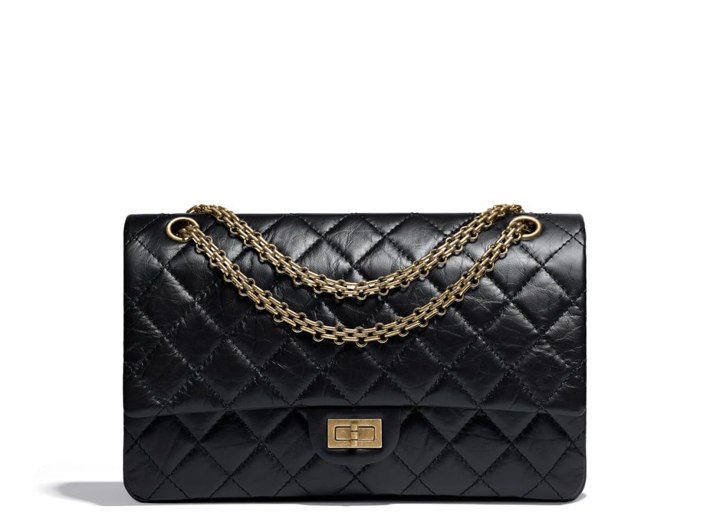 most iconic fashion pieces chanel 2-.55 handbag-black-aged-calfskin-gold-tone-metal-aged-calfskin-gold-tone-metal