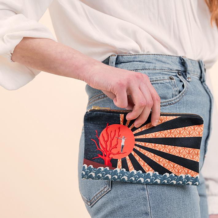 'Taking the Plunge' Pouche Bag artful fashion accessories by pochette square