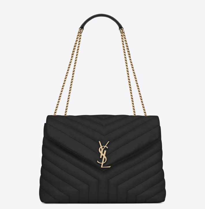 black saint laurent logo bag - best designer bags to invest in