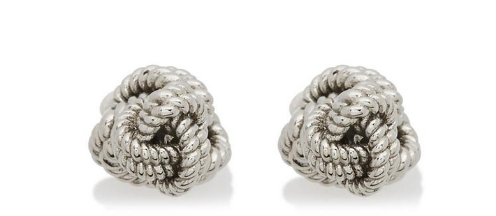 silver knot cufflinks by tom ford