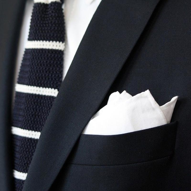 'White Trash' Pocket Square - white cotton by pochette square