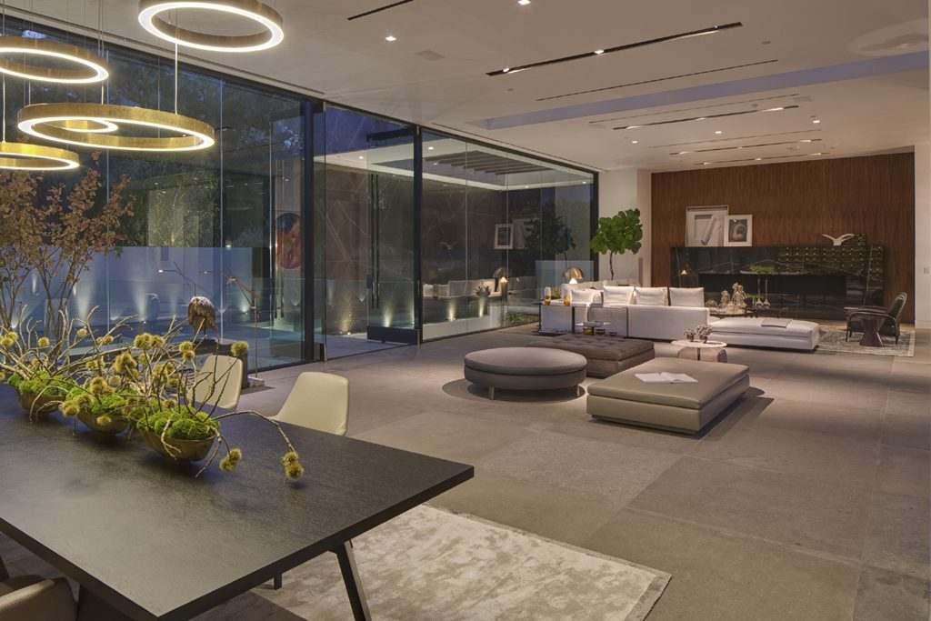 thrasher avenue contemporary home living room and dining room by paul mcclean design