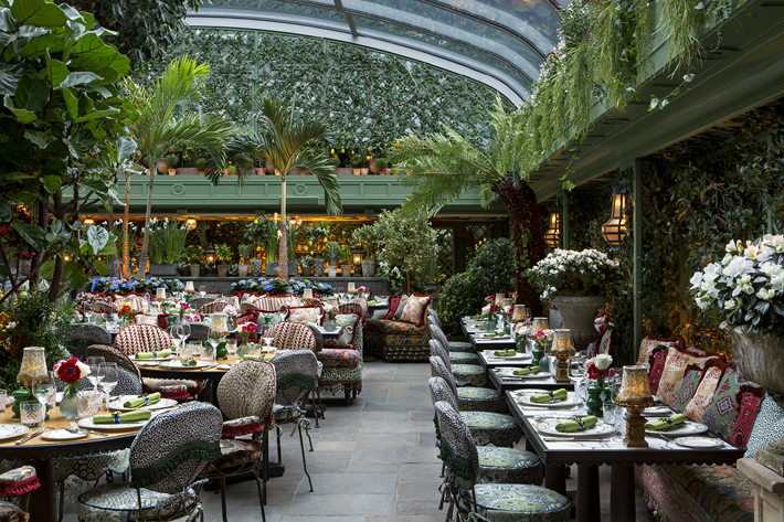 Garden Terrace at Annabel's designed by martin brudnizki Photography by James McDonald