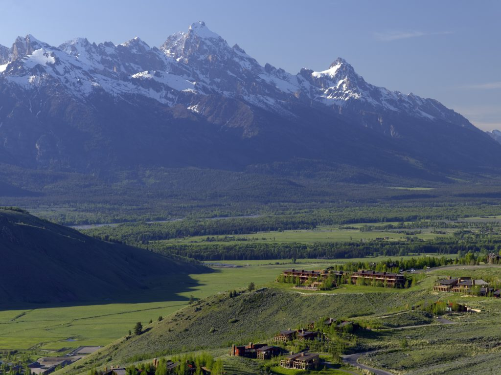 Amangani at the base of the Teton's