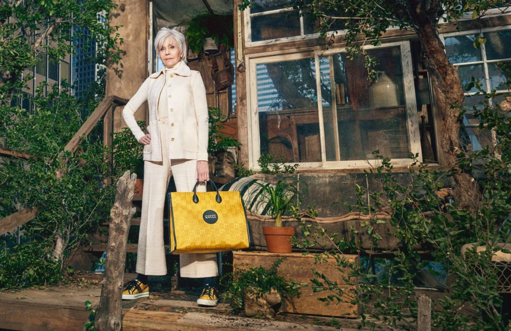 Jane Fonda for Gucci Sustainable Campaign Off The Grid