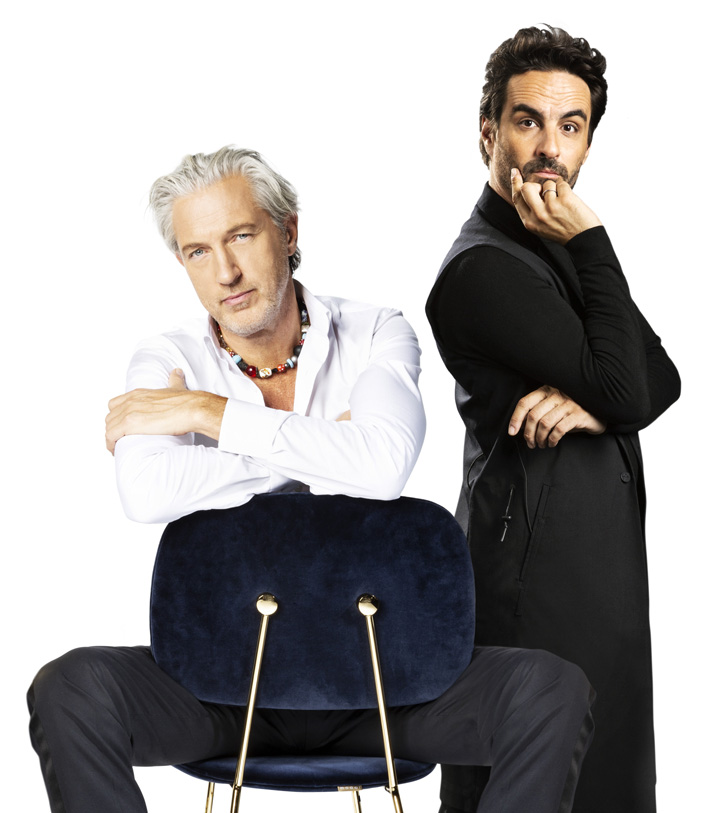 most charming male interior designers Marcel Wanders and Gabriele Chiave, Creative Directors at Marcel Wanders studio