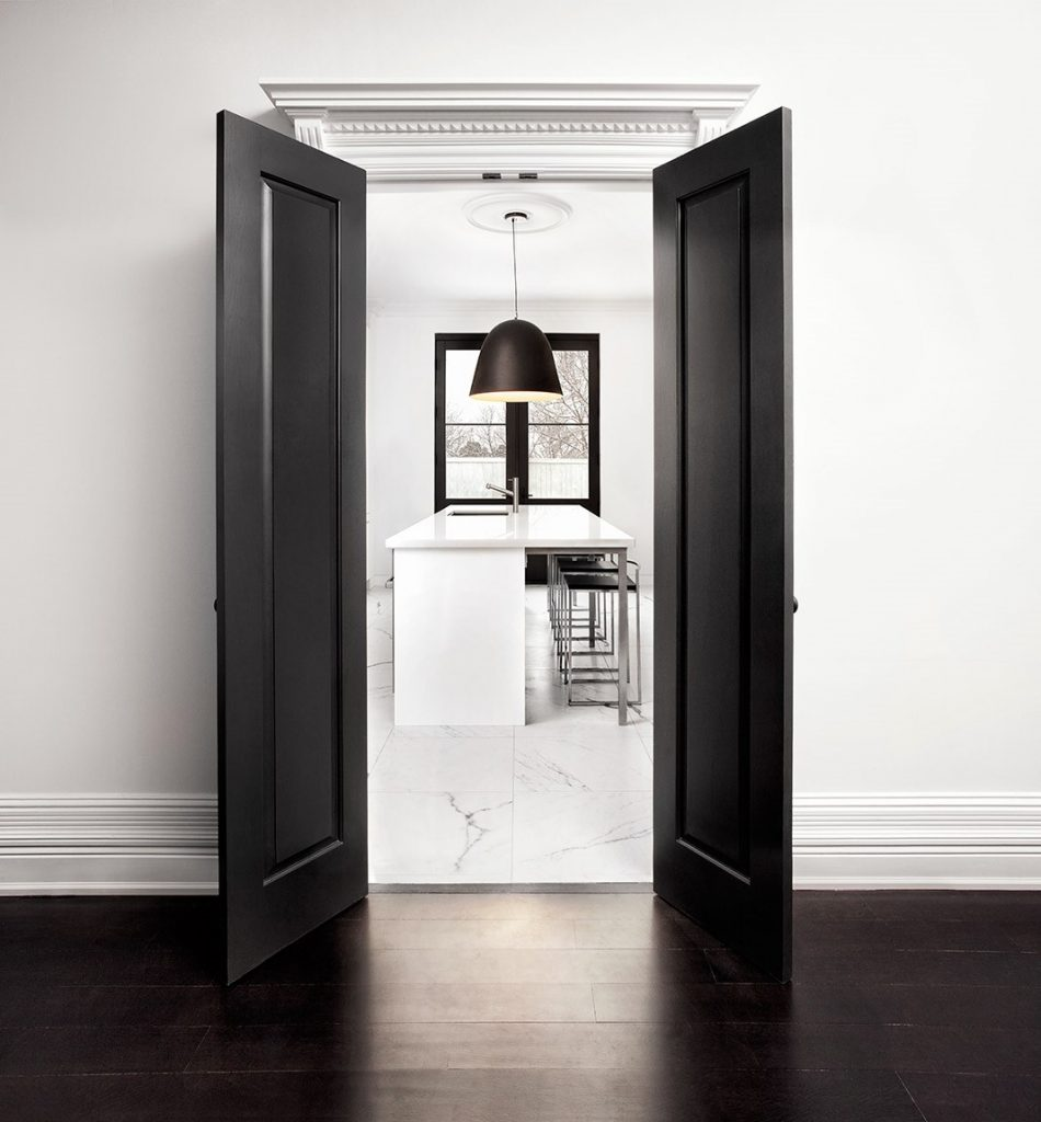 black and white Interior designed by Palmerston
