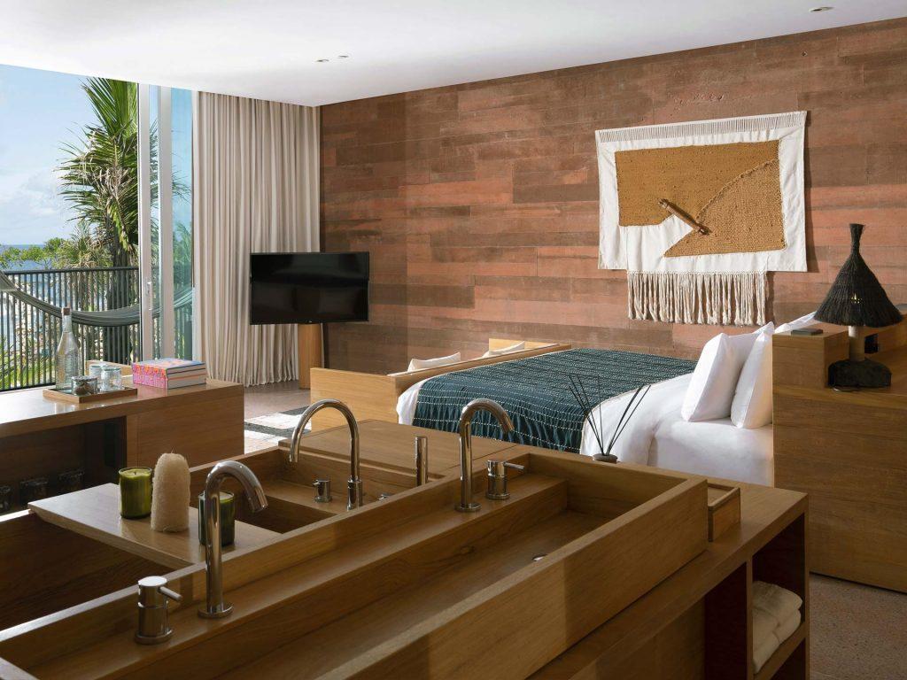 Oceanfront Studio Bedroom at, Potato Head Studios in Bali