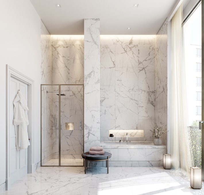 Regent's Crescent CIT En-Suite Bathroom by Millier London - Alexandra Nord and Helen Westlake