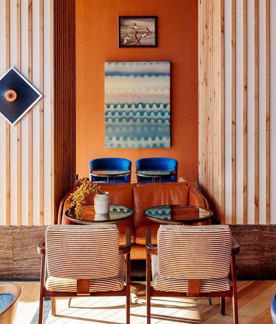 best Hotel Interior Design, AD Hotel Award Winners - Austin Proper Restaurant Lobby