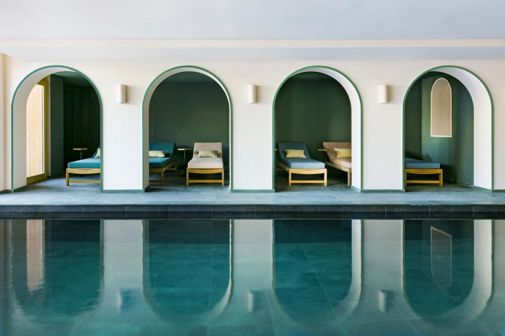 best Hotel Interior Design, AD Hotel Award Winners - Hotel Le Coucou swimming pool
