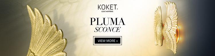 Pluma Sconce by KOKET