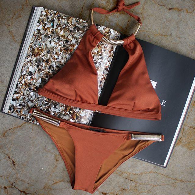 Kyra bikini in Terracota by Moeva London