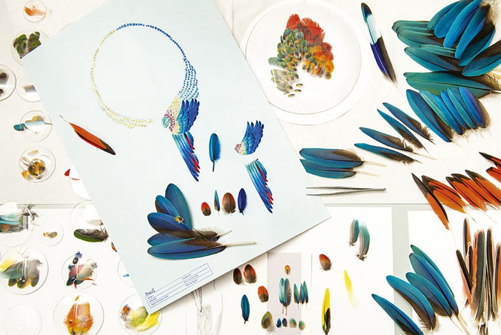 Piaget wings and feather creations high jewelry