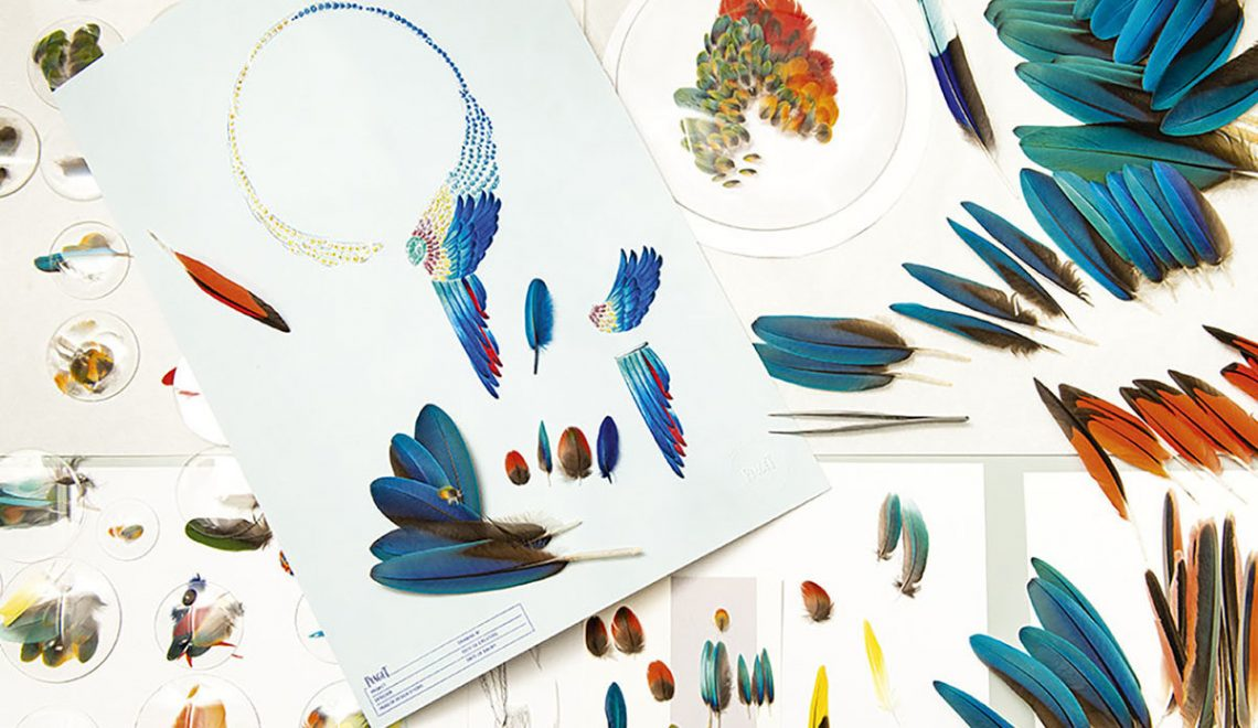 Piaget wings and feather creations