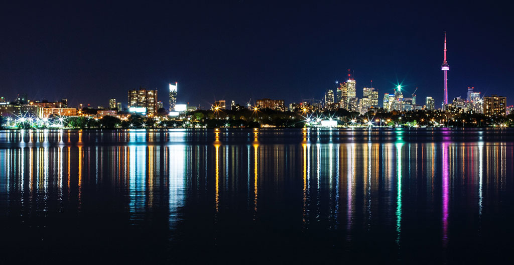 toronto skyline at night - top toronto interior designers and architects