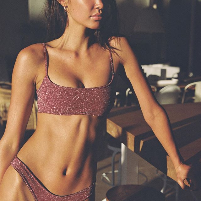 Mica Grape Sparkle bikini by Triangl