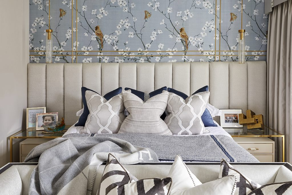Chinoiserie offers a timelessness in this bedroom design by Celine Interior Design