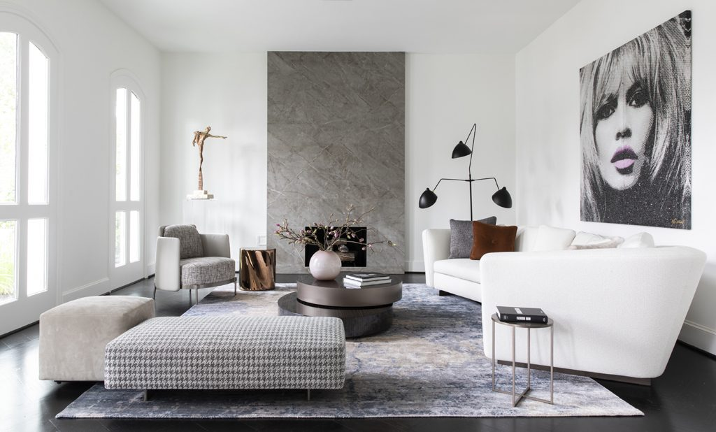 fashionable Living room by Contour Interior Design