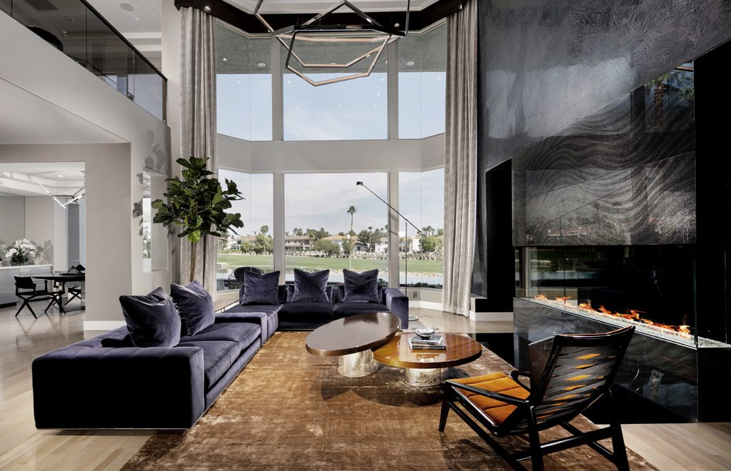luxury living room by Fabiola C Gate Vegas Photo by Velich Studio