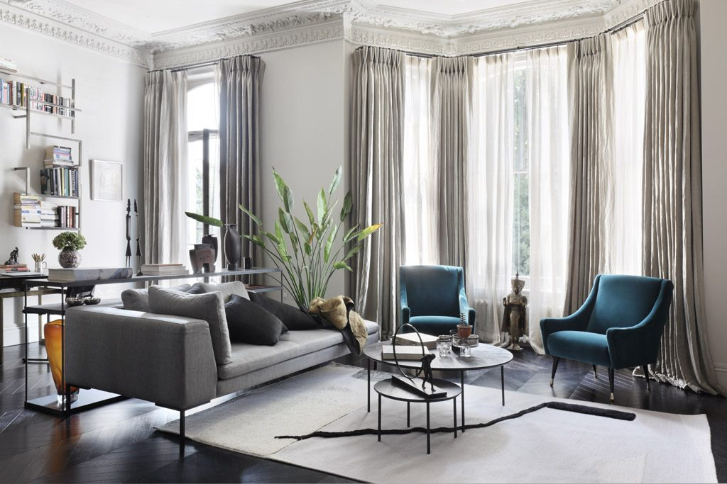 pied a terre luxury living room design by janine stone london