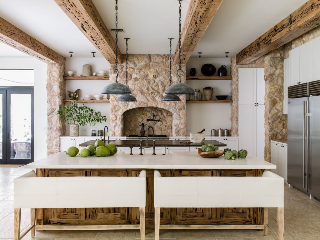 fashionable kitchen design by Lauren Liess, Photo by  by Helen Norman