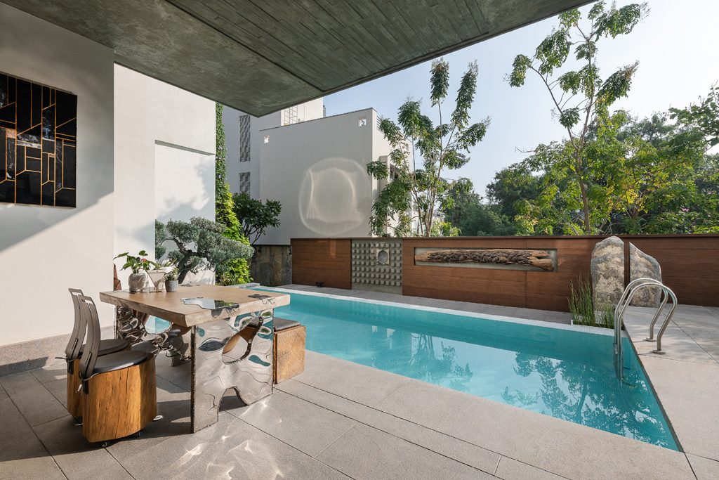 lap pool indoor-outdoor living by na architects india