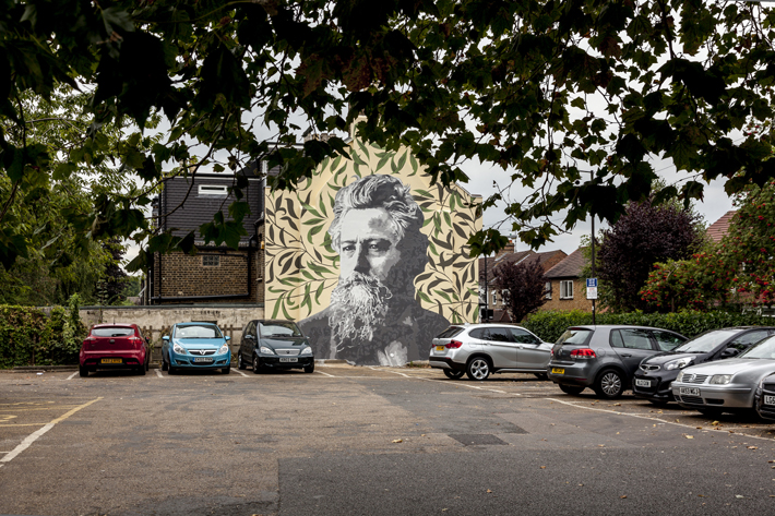 William Morris Mural in Walthamstow, London. E17, Photo by Mark_Rigney