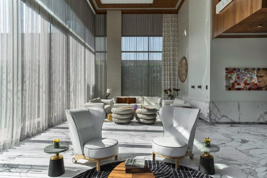 Living Room at Reddy Villa Hyderabad by ZZ Architects
